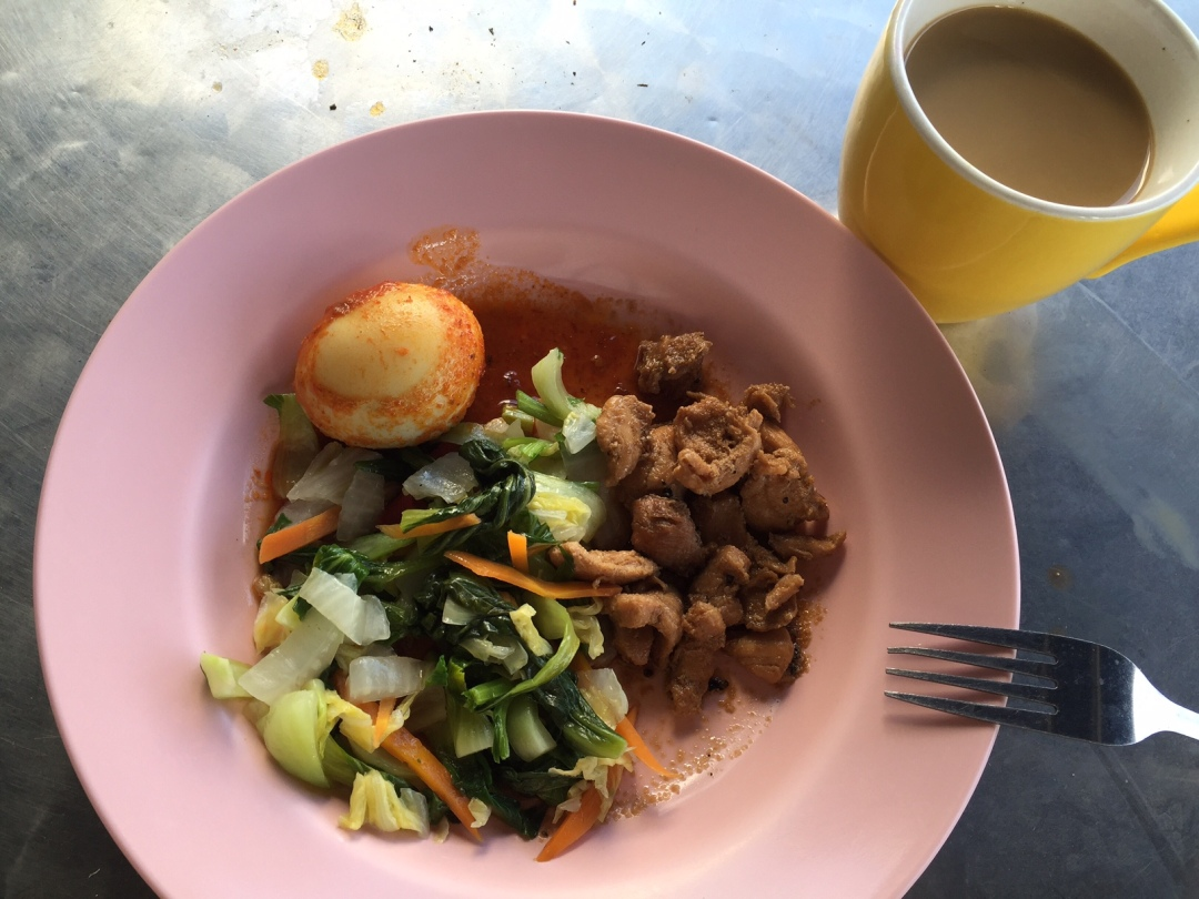 Plate of balanced food in local school canteen